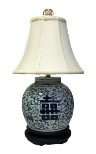 How Do You Want 23 H Double Happiness Blue White Porcelain