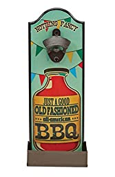 Boston Warehouse Wall Mounted Bottle Opener, Old Fashioned BBQ