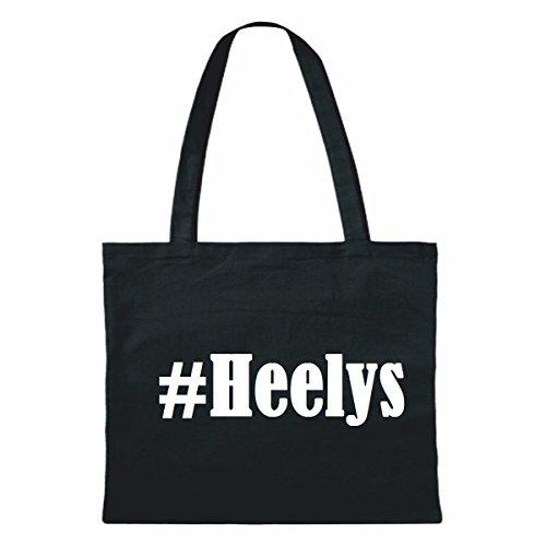 """Tasche""""#Heelys""""Größe""""38x42""""Farbe""""Schwarz""""Druck""""Weiss"""