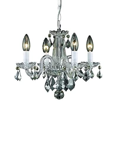 Crystal Lighting Rococo 4-Light Hanging Fixture, Chrome
