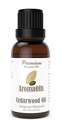 Cedarwood Essential Oil by AromaOils - 1 oz (30 ml) - 100% Pure Therapeutic Grade from Texas - Best Used Now for Aromatherapy, Inflammation, Hair Loss, Acne, Tension Relief, and as an Anti-Septic