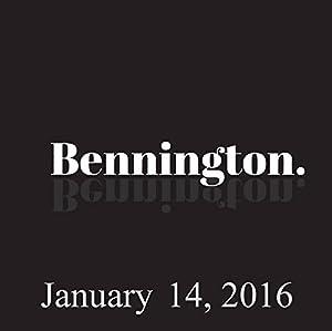 Bennington, January 14, 2016 Radio/TV Program