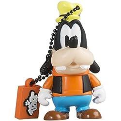 Tribe FD019403 Disney Pendrive 8 GB Simpatiche Chiavette USB Flash Drive 2.0 Memory Stick Archiviazione Dati, Portachiavi, Goofy (Pippo), Arancio