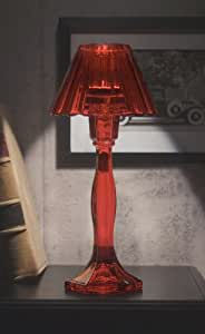 StudioSilversmiths 43929 Crystal Lamp With Crystal Shade - Red