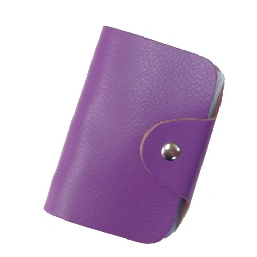 10. Premium Genuine Soft Cowhide Leather Credit Card Holder Wallet