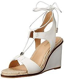 Aldo Women\'s Terisa Wedge Sandal, White, 9 B US