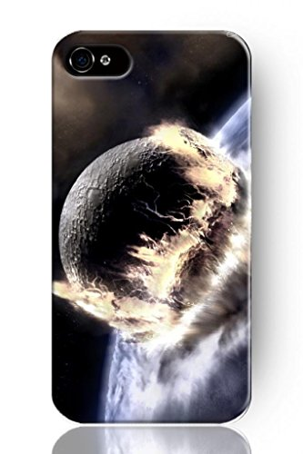 Sprawl New Fashion Design Hard Skin Case Cover Shell For Mobile Phone Apple Iphone 4 4S 4G--Universe Power Of Fire And Ice
