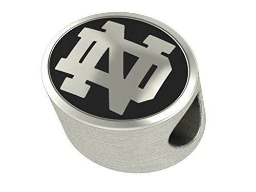 Notre Dame Fighting Irish Sterling Silver Antiqued Bead Fits Most European Style Charm Bracelets