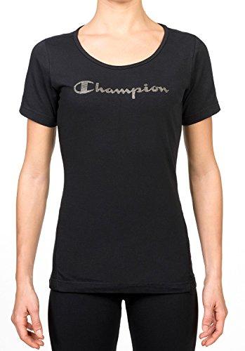 Champion - Maglietta girocollo da donna Nero nero XL