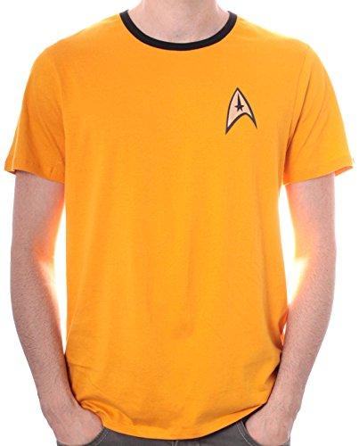 Star Trek - Uniforme, Uniforme da uomo, giallo (jaune), Small (Taglia Produttore: S)