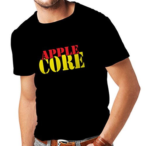 N4248 T shirts for men Apple Core (Medium Black Yellow) (Droid Developer Phone compare prices)