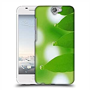 Snoogg Leaves Dew Drops Designer Protective Phone Back Case Cover For HTC one A9
