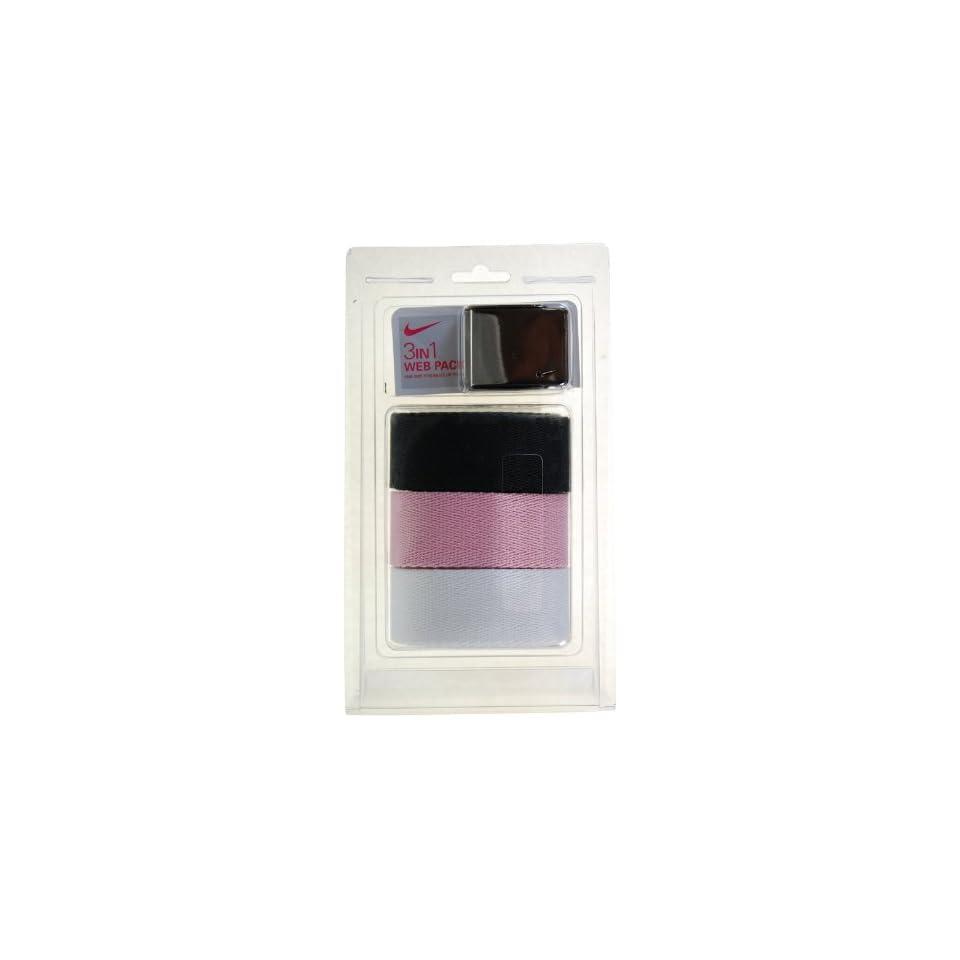 6af3878747 New Ladies Nike Golf Web Belt 3 Pack Black/Pink/White on PopScreen