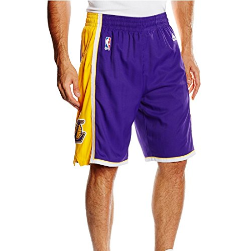 Adidas Intnl Swingman Shor Shorts da Basket - Multicolore (Purple/Yellow/White) - XL