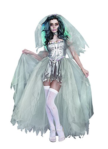 Dreamgirl Women's Sexy Gothic, Dead Zombie Costume, Bride Of Doom