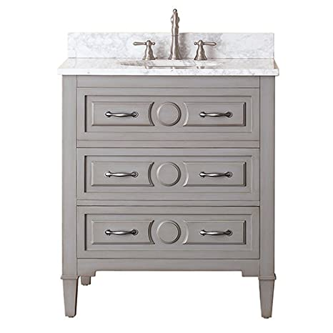 Avanity Kelly 36 in. vanity with Black Granite top in Grayish Blue finish