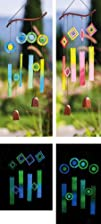 Glow In The Dark Circles and Squares Windchime Mobiles