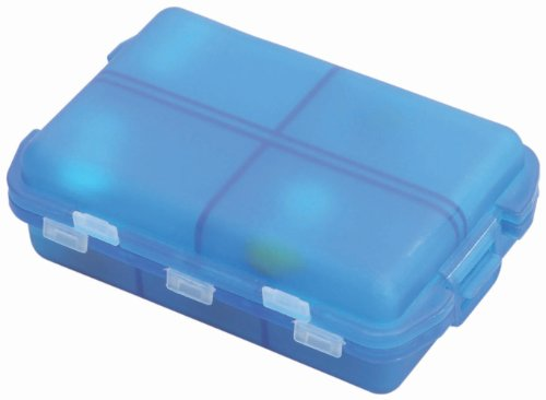 Lewis N. Clark Eight Day Pill Box, Blue, One Size