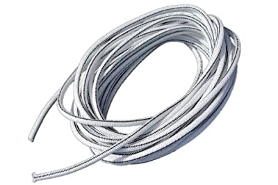 "1/2"" x 100' White Shock Bungee Rubber Rope Cord - Woven Jacketed"