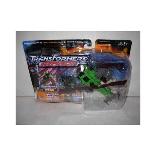 Transformers Armada Powerlinx Cyclonus with Powerlinx Crumplezone Mini-con Figure by Hasbro (English Manual)
