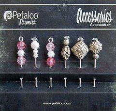 Petaloo Accessories Beaded Hat Pins by 6 Fuschia