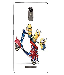 Case Cover Minions Printed Yellow Soft Back Cover For Gionee S6s