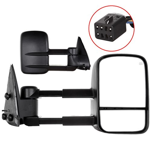 Carrep Tow Towing Mirrors Towing Side Mirror Telescoping Power Heated for 99-02 Chevy GMC Truck (2000 Dodge Cummins Tow Mirrors compare prices)