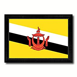 Brunei Darussalam National Country Flag Print On Canvas Design Primitive Wall Art Home Decor Office Interior Souvenir Gift Ideas, 23\