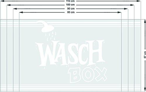 Graz Design 990021_80x57 Sichtschutzdekor Duschtür Dusche Milchglasfolie für Badezimmer Spruch Wort (Größe=80x57cm)