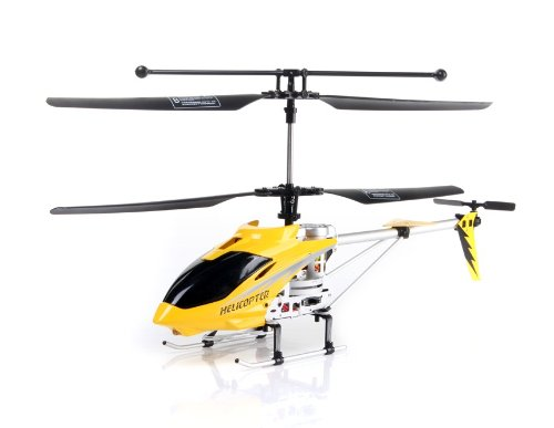 FeiYue FY806 3.5 Channel Metal RC Helicopter with GYRO Light EU Plug (Yellow)