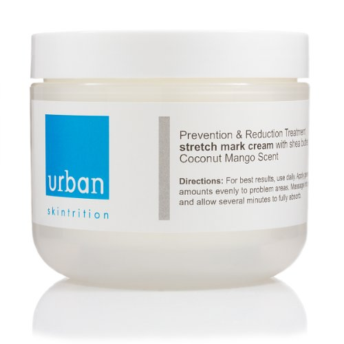 Urban Skintrition Stretch Mark Cream with Shea Butter - Coconut Mango Scent - 4 oz