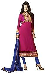Designerz Fantasy Women's Georgette Unstitched Dress Material (Multi-coloured)