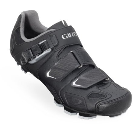 6afff12b31842 The Features Giro 2013 Mens Gauge HV Wide Mountain Bike Shoes Black 43 5 -