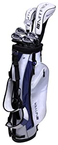 Pinemeadow Golf Women's Nitrix Pro Set Driver, 3 Wood, Hybrid, 6/7-PW Irons, Putter Bag (Right Hand) by Pinemeadow Golf