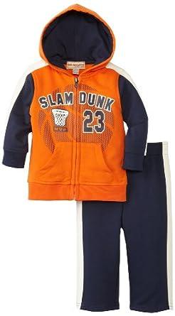Amazon.com Kids Headquarters Baby Boysu0026#39; Basketball Slam Dunk Two Piece Hoodie Jog Set Infant ...