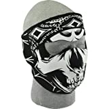 41JWrif b0L. SL160  Zan Headgear Lethal Threat Gangster Skull Mens Neoprene Full Face Mask Sports Bike Motorcycle Helmet Accessories   One Size Fits All