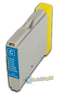 1 Cartucho de Tinta Cian (Azul) Compatible con Brother LC1000/LC970 para la MFC-5860CN impresora