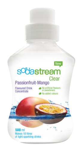 Sodastream Flavouring Syrup Clear Passion Fruit and Mango 500 ml Bottle (Pack of 6)