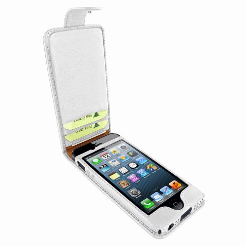 Great Price Apple iPhone 5 / 5S Piel Frama White Leather Cover with Snap Closure