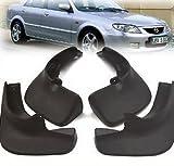 Car accessory Front & Rear Mudguard Mud Flaps Splash Guard Black Fit For 1998 1999 2000 2001 2002 2003 MAZDA PROTEGE SEDAN 323