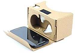 DOMO nHance VRC625 Google Cardboard v2 Assembled with Button Universal Virtual Reality 3D and Video VR Headset for Smart Phones upto 6