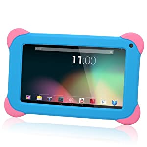 TabSuit Silicone Rubber Gel Soft Skin Case Cover for 7'' Dragon Touch K7 Android Tablet and more 7'' Tablets (Blue)[By TabletExpress]