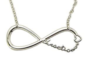 One Direction Infinite Directioner Pendant W18 Link Chain Necklace Xc253 Silver from NYfashion101, Inc.