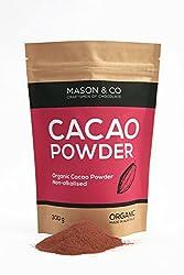 Mason & Co. Non-Alkalised Organic Artisanal Indian Cacao Powder - 300 Grams