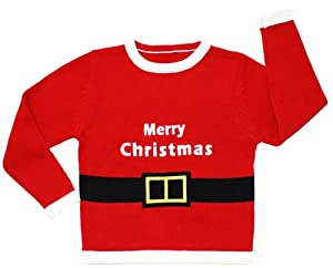 Santa Suit Children's Christmas Sweater in Red - Ugly Christmas Sweater