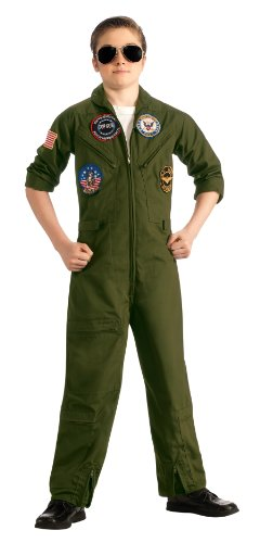 Top Gun, US Navy Flight Suit Costume, Large