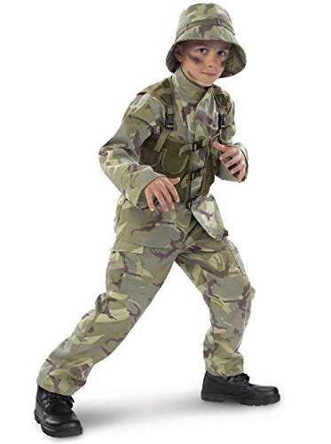 Time AD Inc. 156298 Delta Force Army Ranger Child Costume - Brown-Green