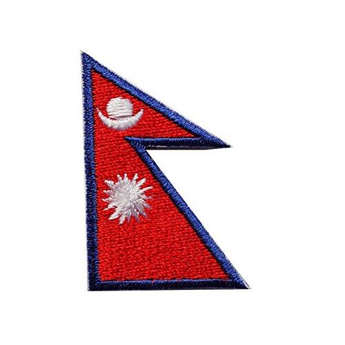 【WAPPEN】アイロン貼付ワッペン★国旗SS (ネパール)