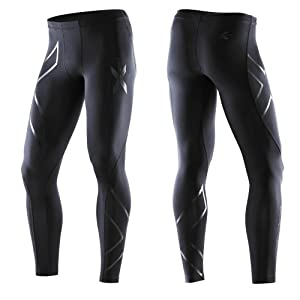 2XU 2013/14 Men's Recovery Compression Tights - MA1959b (Black/Black - XLT)