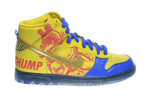 """Nike Dunk High Pro Sb Bg """"Doernbecher"""" Big Kids Basketball Shoes Vivid Sulfur/Game Royal 579604-740 (6.5 M Us)"""